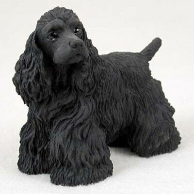 COCKER SPANIEL (BLACK) DOG Figurine Statue Pet Lovers Gift Resin Figure