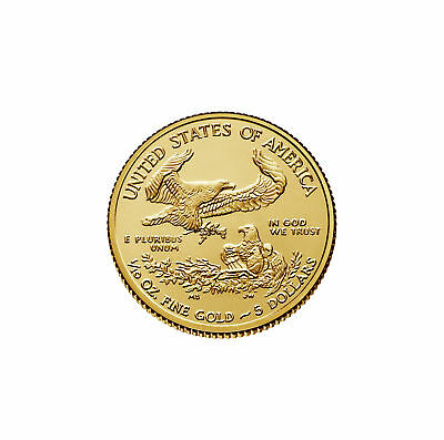 Lot of 10 - 2018 $5 1/10oz Gold American Eagle BU