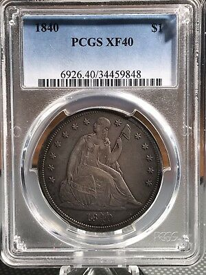 1840 Seated Liberty Dollar PCGS XF40 Perfect Circulated Coin!  34459848