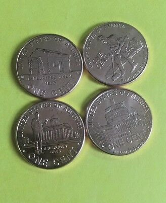 2009 1 CENT Lincoln-  4 Bicentennial's Encapsulated  *$2 each*