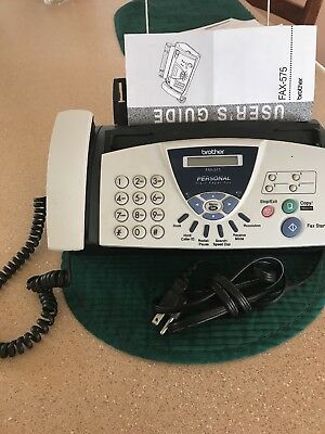 New Brother FAX-575 Plain Paper Fax Phone & Copier
