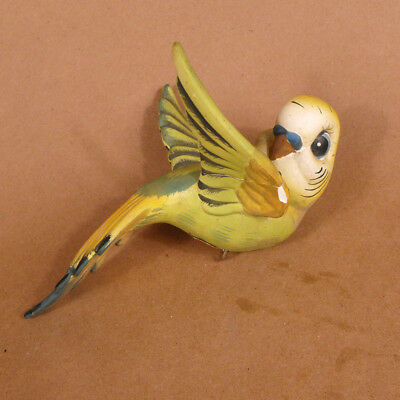 Unusual Large Cutesy Parakeet Budgie Figurine