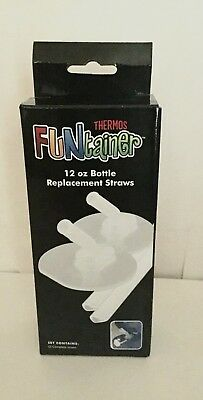 Thermos FUNtainer 12oz Bottle Replacement Straws (2) Per Box Model F 400