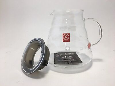 Hario V60 Coffee Servers Glass Range Server 800ml, Clear BRAND NEW