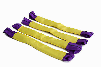 Recovery Alloy Wheel Securing Link Straps Tie Down Trailer 50 x5cm Yellow/Purple