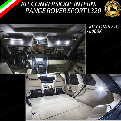 Kit Full Led Interni Range Rover Sport L320 Conversione Completa 6000K Canbus
