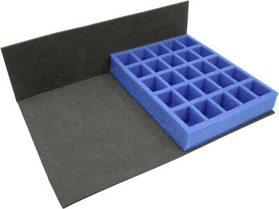 KR Tray for 25 Bulky troops / troops on 32mm bases - Upto 40mm tall (SM61)