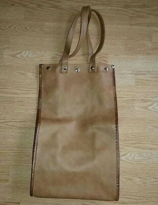 Vintage Brown Rolling Airline Travel Luggage Bag With Wheels