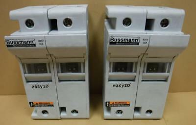 Cooper Bussman 2 Pole Modular Fuse Holder CH30J2I 600VAC 30A 200kA IR Lot of 2