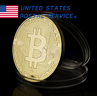 20 PACK Gold Bitcoin Commemorative Round Collectors Coin Bit Coin Gold Plated US