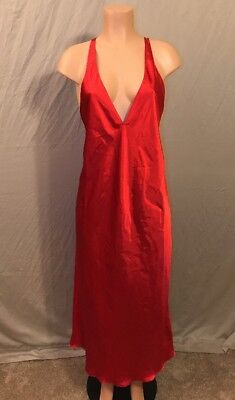 Vintage frederick's of hollywood Long Red Nightgown Nightie Dress Chemise Sexy