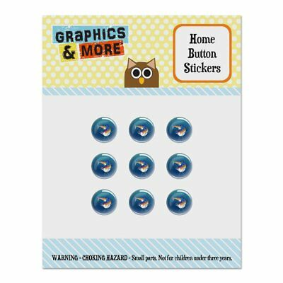Blue Marlin Swimming in Ocean Home Button Stickers Fit Apple iPhone