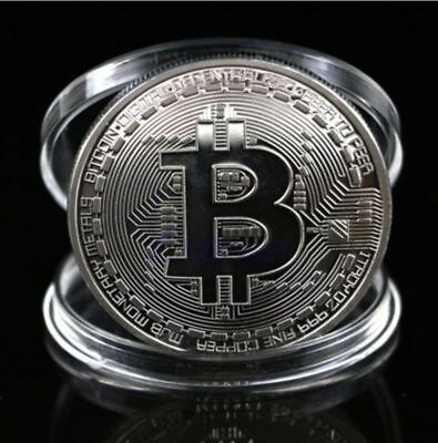 3PCS Silver Bitcoin Commemorative Round Collectors Coin Bit Coin Plated Coins