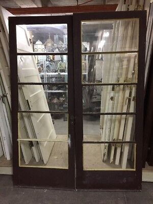 "Old Five Pain French Doors 79 X 29-3/4 Ea 59-1/2"" Open"