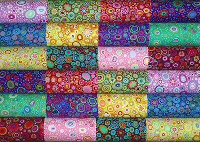 24 Kaffe Fassett Paperweight Roman Quilting Cotton fabric 5 inch squares #47m