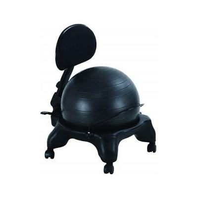 Office Fitness Balance Ball Chair with Adjustable Backrest and DVD