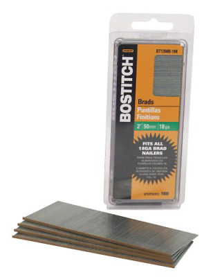 BOSTITCH BT1350B-1M 2-Inch 18-Gauge Brads, 1000 per Box