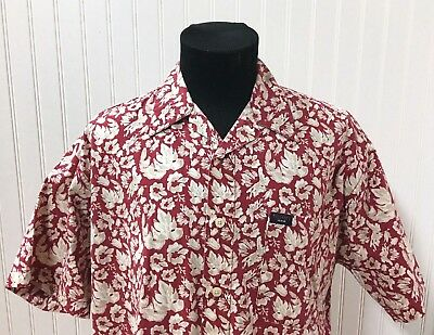 Vintage 2000 Tommy Hilfiger Men's Large 100% Cotton Floral Pattern Shirt In Vguc