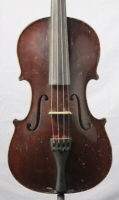 Nice Old Antique 4/4 German Guarnerius Violin Two Piece Circa Early 1900s