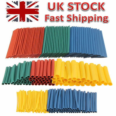 260 Car Assorted Electrical Cable Heat Shrink Tube Insulation Tubing Wrap Sleeve