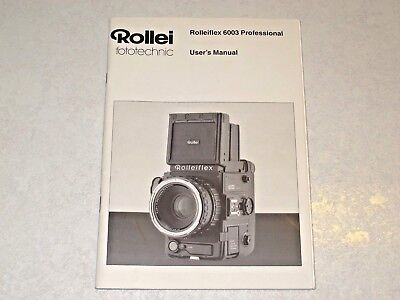 Genuine Rollei 6003 Professional Camera Instruction Manual