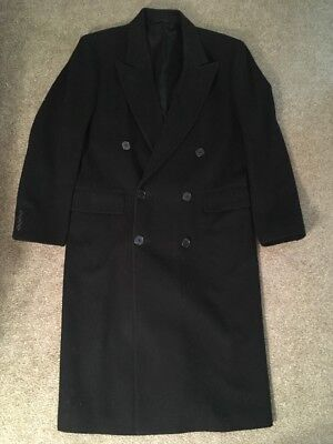 Bloomingdales The Men's Store Black Wool Trench Coat, Size L