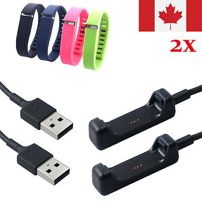 2pcs USB Charging Cable Cord Charger for Fitbit Flex 2 Smart Watch CA STOCK