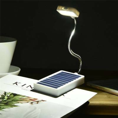Solar LED Book Light Reading Lamp with USB Interface Clip on Book Eye Protection