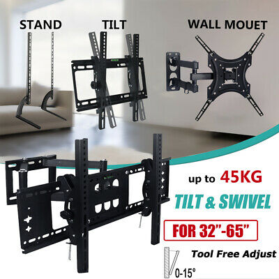 Tilt TV Wall Bracket Mount Flat LED LCD 32 37 42 46 50 52 55 60 65 inch LG Sony