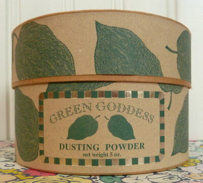 1993 BURT'S BEES GREEN GODDESS DUSTING POWDER & POWDER PUFF RARE! SEALED burts