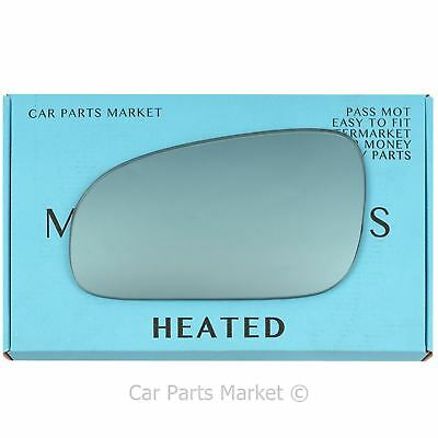 VOLVO S80 2003-2005  WING MIRROR GLASS WIDE ANGLE HEATED PASSENGER/'S SIDE UK