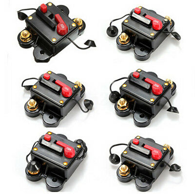 60A-300A AMP Car Audio/Video Protector Inline Circuit Breaker Fuse Holder DC12V