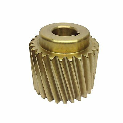 "Bronze Motor Pinion Gear for Crypto Peerless C28 Potato Peerler 5/8"" Shaft. LKS"