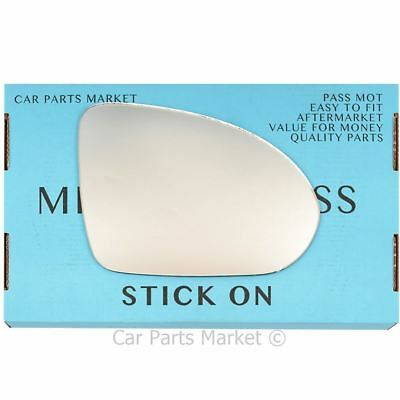 Right Driver side Flat Wing door mirror glass for Smart Forfour 2004-2006