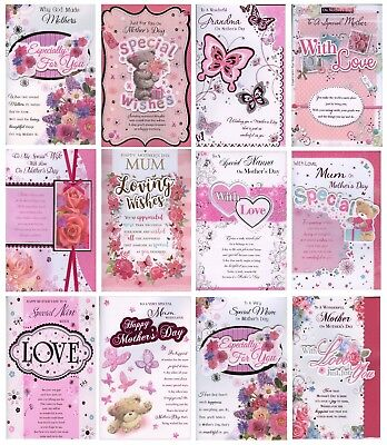 Lovely 8 Page Sentimental Verse Mother's Day Card 1Stp&p Various Designs & Title