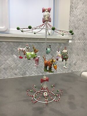 Dept 56 Krinkles Mini Ornament Dog Tree W Complete Set Mini Ornaments Rare!