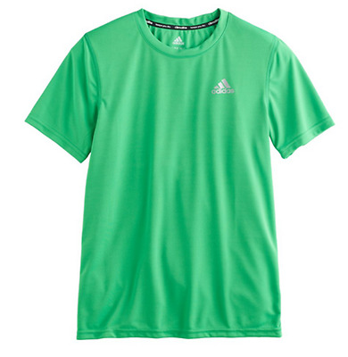 ADIDAS Boys Climalite Essentials Green S/S T-SHIRT Szs 8-18 NWT