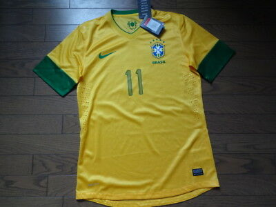 Brazil  11 100% Authentic Player Issue Soccer Jersey Shirt L BNWT NEW 2012  Home 082808dc7