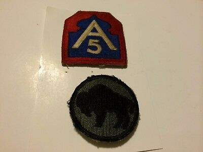 U. S. 5Th Army And 92Nd Infantry Division Patches World War Ii