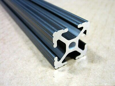 80/20 Inc 1 x 1 T Slot Aluminum Extrusion 10 Series 1010 x 24 Black H1-1