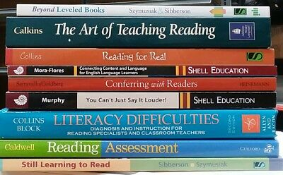 9 Book Lot The Art of Teaching Reading, Reading For Real, Reading Assessment +