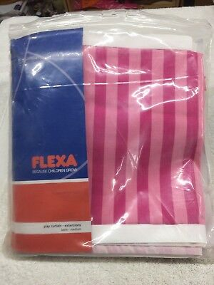 Flexa Pink Play Curtain Extension, #738066 - Pink/Stripes - 2 Pc. Set. Deal!