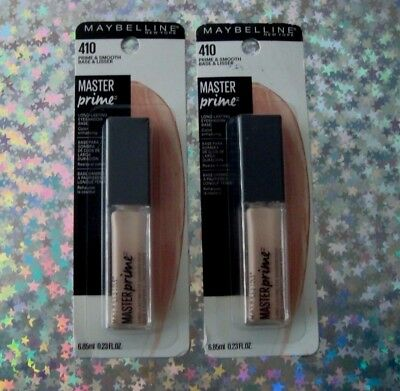 *NEW* 2 Maybelline Master Prime Long Lasting Eyeshadow Base 410 PRIME & SMOOTH