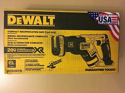New DEWALT DCS367B 20V XR Brushless Cordless Compact Reciprocating Saw TOOL ONLY