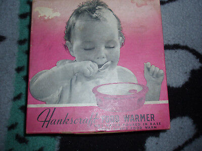 Rare Vintage Estate Retro Hankscraft Food Warmer Double Porcelain Baby Dish/Box