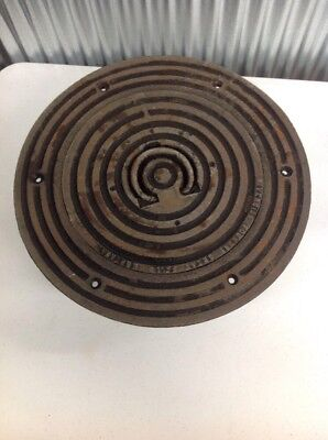 Vintage Riverside Cast Iron Round Manhole Cover? Steampunk Man Cave Industrial