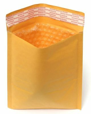 250 Pcs Gold Kraft Self Seal Bubble Padded Envelope Mailer Size #0 Local PickUp