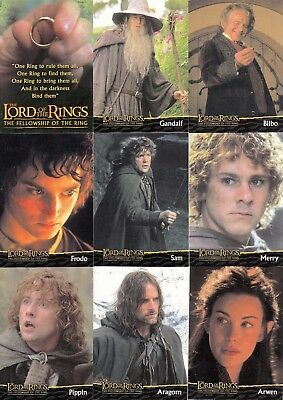 Lord Of The Rings Fellowship Ring Movie 2001 Topps Uk Factory Card Set Of 20