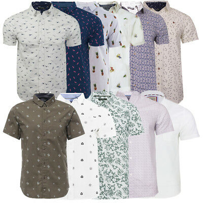 Mens All Over Print Summer Casual Short Sleeve Shirt Collection By Brave Soul