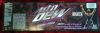 Mountain Dew Ryse Full 12 Pack Mtn Game Fuel Electrifying Berry